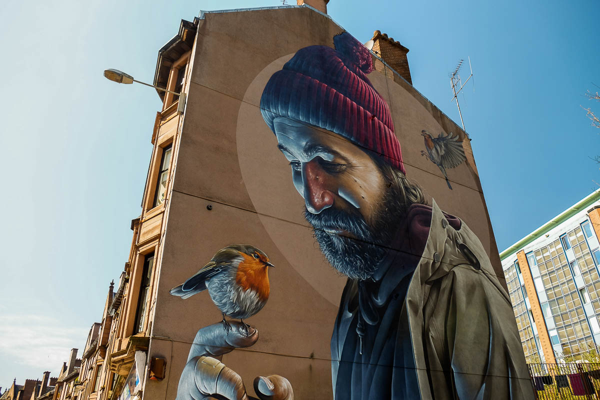 Our pick glasgow s street murals walkhighlands for A mural is painted on a
