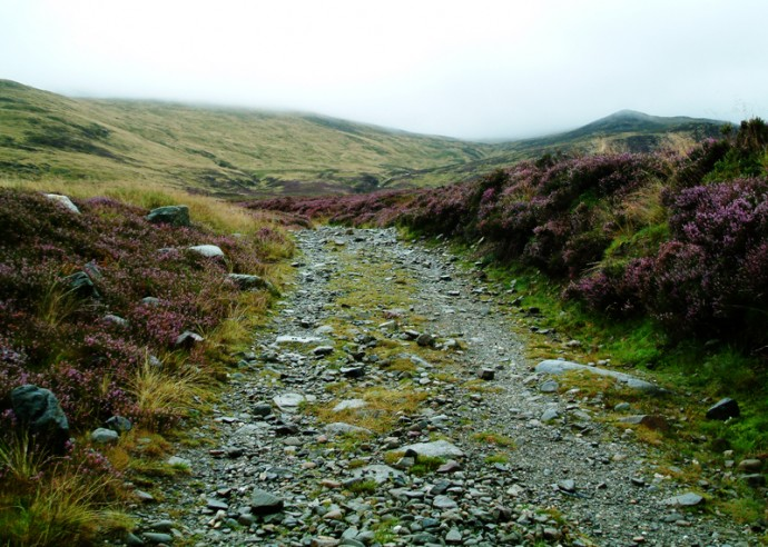 04 The stony trail up Ben Chonzie.JPG