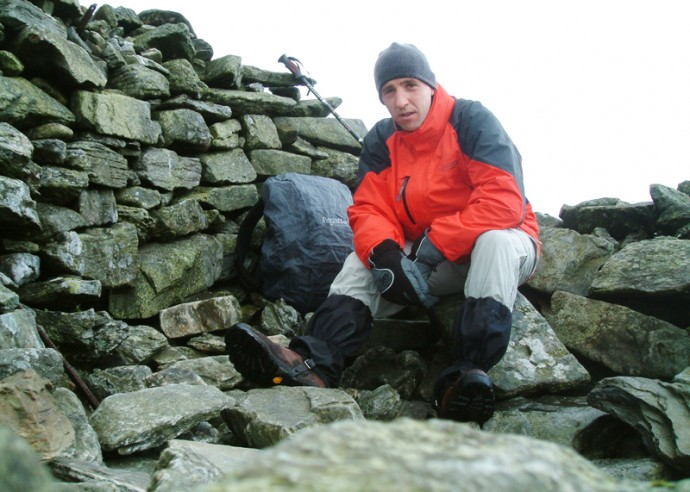 07 Cold at Ben Chonzie's summit cairn.JPG