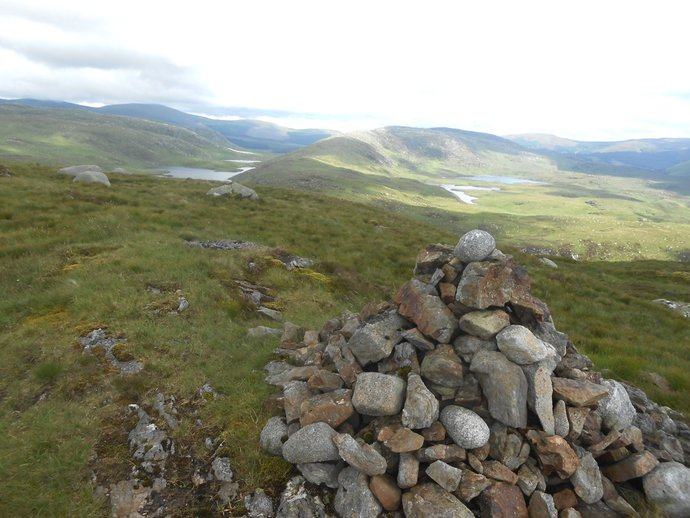 WR21 - Craiglee with two Glenhead lochs from second Buchan Hill cairn.jpg