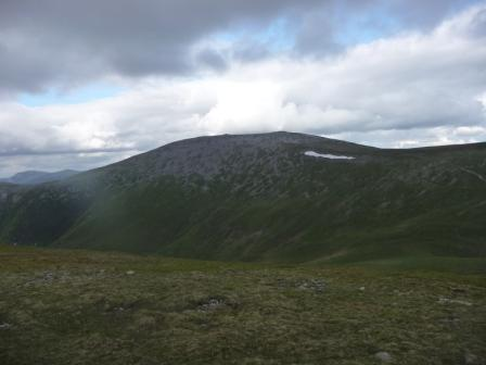 036 looking back at Carn nan Gabhar summit from Bealach an Fhiodha 21st June 2014 c.jpg