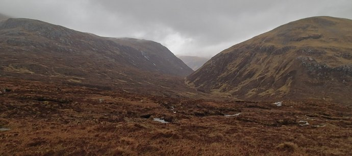 23 Hard navigation and rough boggy terrain passing Bealach na Croise.JPG
