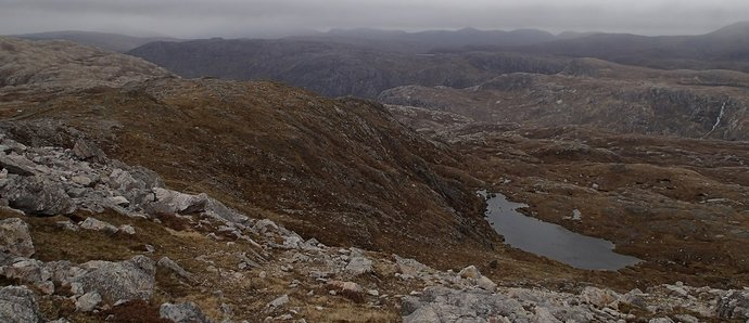 38 Loch Fleodach Coire and the ridge above.JPG