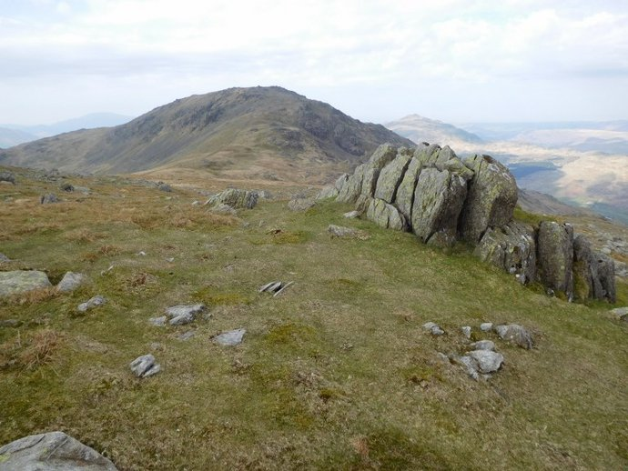 13 - Grey Friar with Harter Fell behind from Wether How.JPG