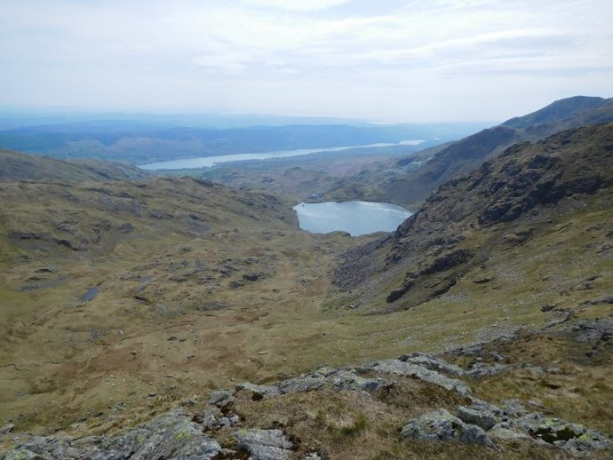 26 - Coniston Water and Levers Water from the Prison Band.JPG