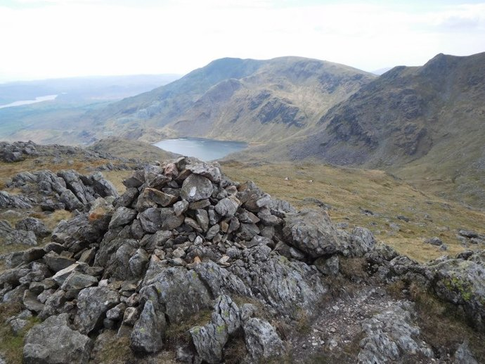 29 - Coniston Old Man and Levers Water from Black Sails top.JPG