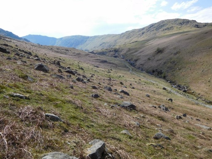 48 - Greenburn overlooked by Rough Crag and Great Carrs.JPG