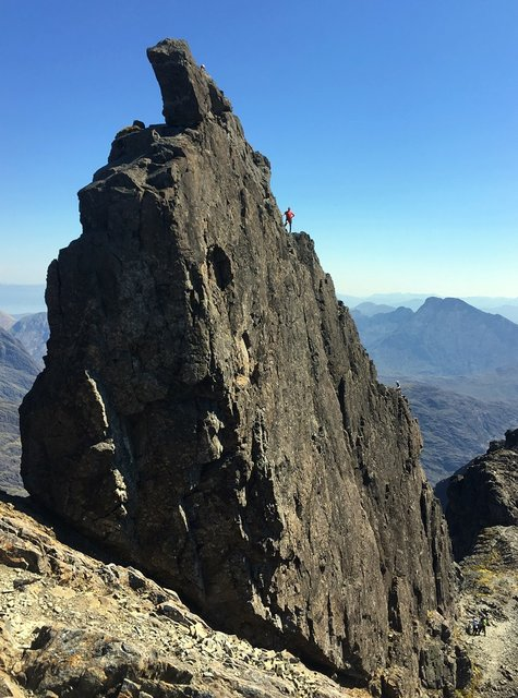 Day 4h Wednesday - Steve on the Inaccessible Pinnacle.JPG