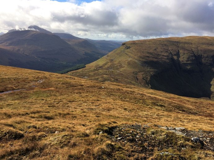 WR11 - first proper look at Udlaidh and rather boggy bealach.jpg
