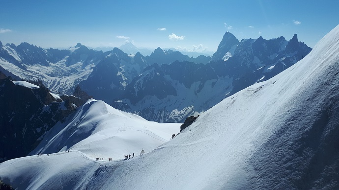 Ridge off the Aiguille du Midi