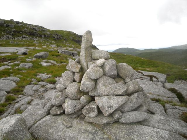 Excited Cairn on the col below Craignaw.jpg