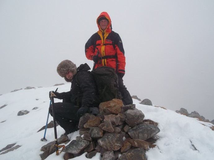 8. 4 hours and a slog later and we have reached the 1st summit of the day..JPG