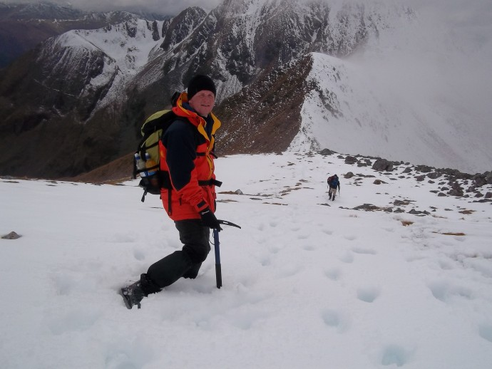 13. leaving the summit of Stob Coire a'Chairn and on our way to Am Bodach.JPG