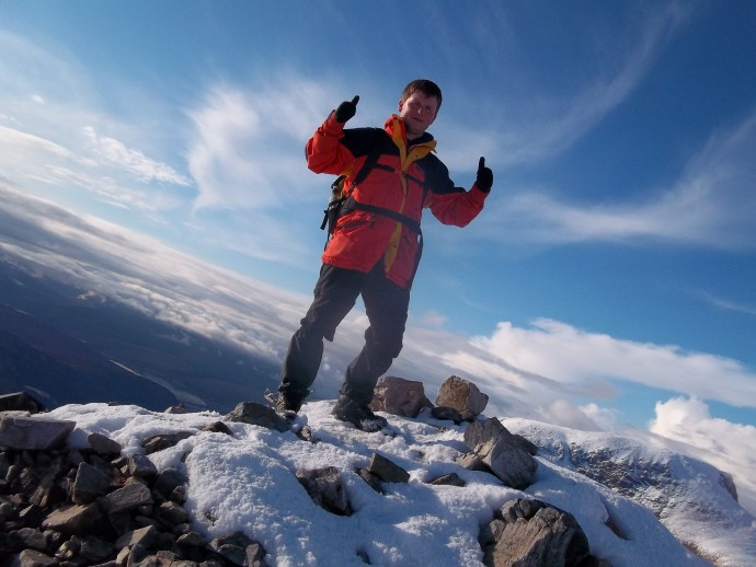 19. at last, on the summit of Munro No.4 Sgurr a'Mhaim.JPG