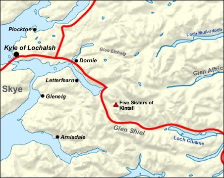 Kintail map