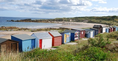 Beach huts at Hopeman