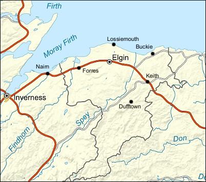 Nairn Scotland Map.Moray And Nairn Walkhighlands