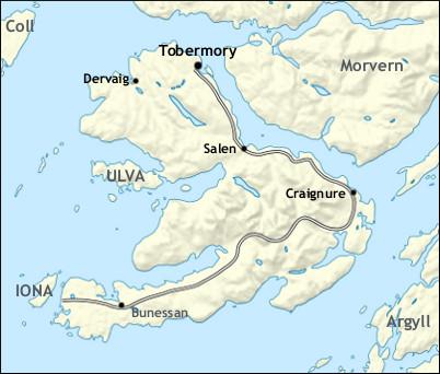 Isle Of Mull Map Isle of Mull (Walkhighlands)