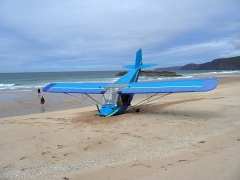 The crashed microlite at Sandwood Bay