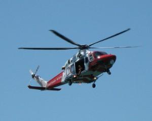 Coastguard helicopter (photo: David Jones)