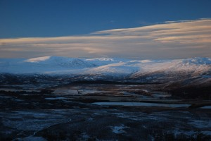 The Monadhliath from across Strathspey