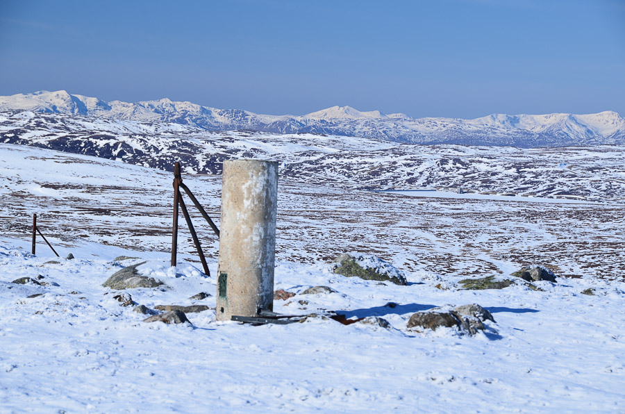 Looking over the site from Meall na h-Airse