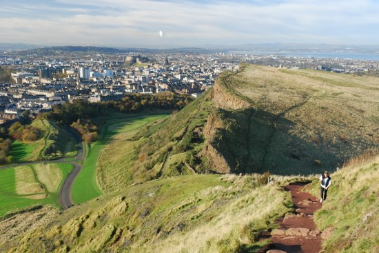 Salisbury Crags, Edinburgh city centre