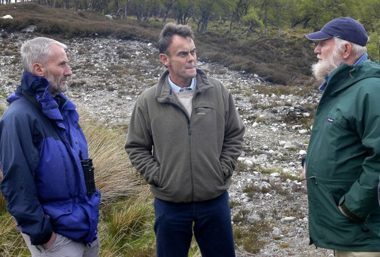 Dave (left) meeting with Paul Lister of Alladale Estate and Dick Balharry