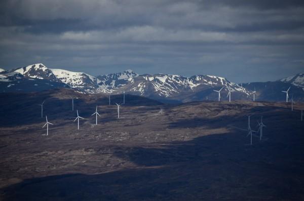The Millenium windfarm above Glen Moriston