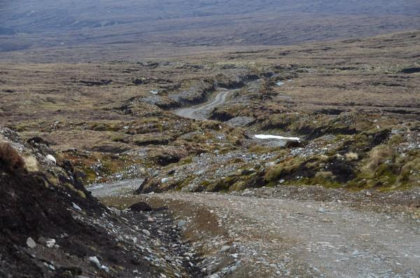 Bulldozed track, Monadhliath