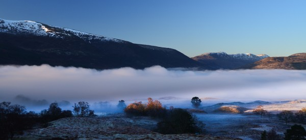 "Morning at the foot of Loch Arkaig - not a ""National Scenic Area"""