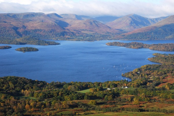 Loch Lomond - the National Park here was created in 2002