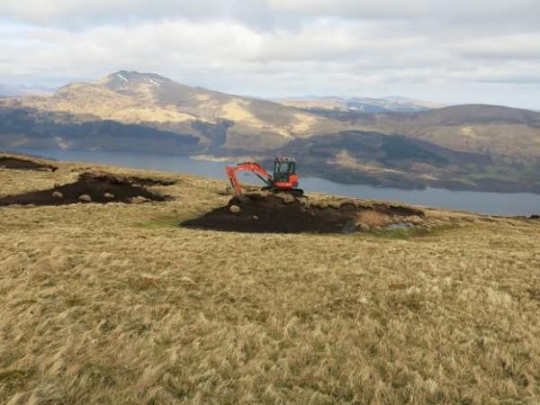 tractor working on peatland