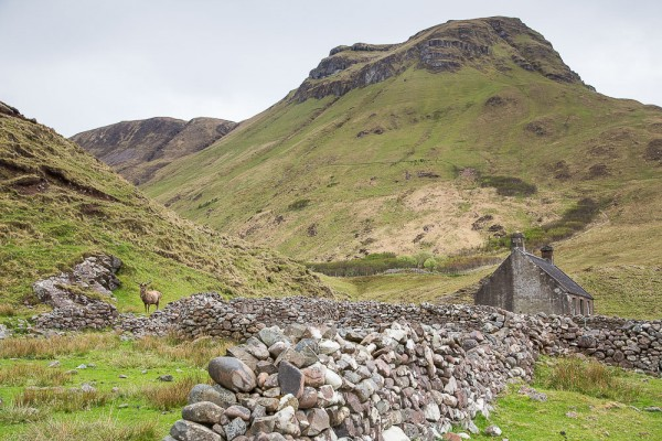 The remains of Guirdil village, cleared for sheep by the Macleans of Coll in 1826. 300 people from the Isle of Rum were put on boats for Nova Scotia.