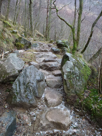 Repaired path through Steall Gorge (Photo: Chris Goodman)