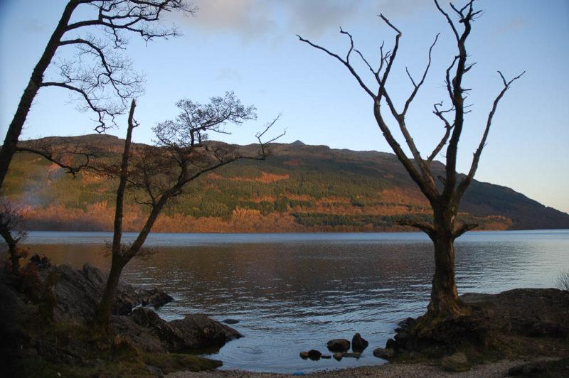 Loch Lomond shores north of Tarbet