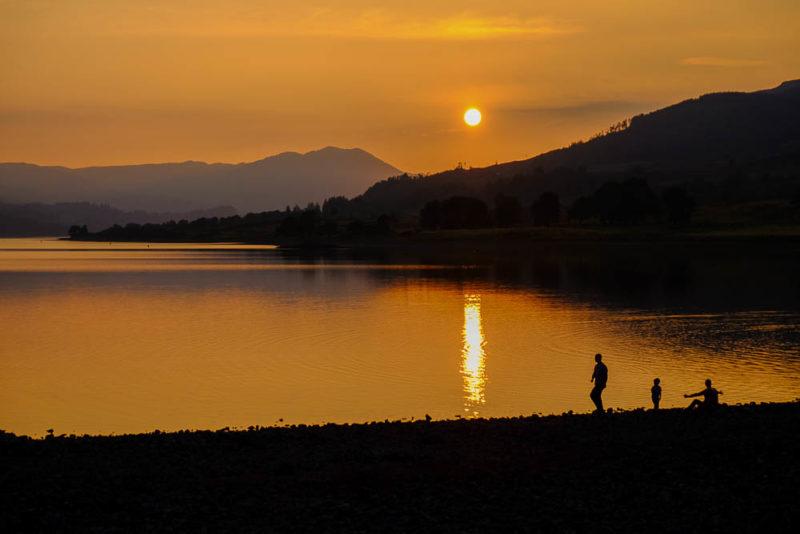 Summer sunset on Loch Venachar