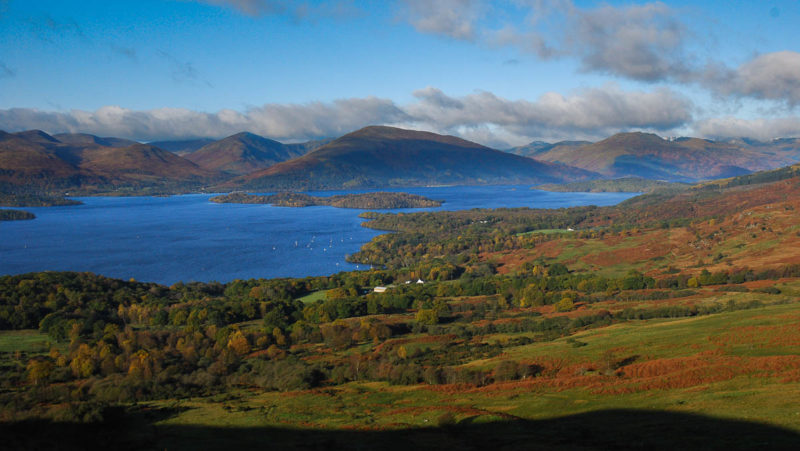 Shores of Loch Lomond from Conic Hill