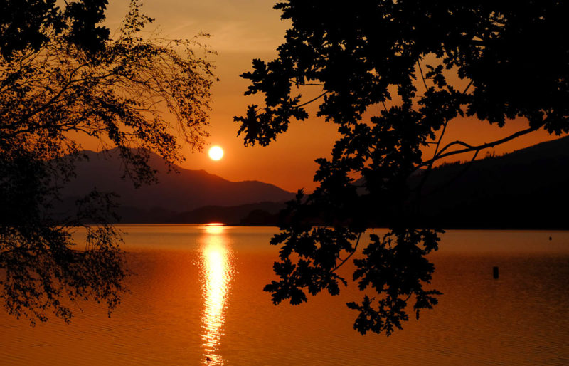 Sunset on Loch Venachar