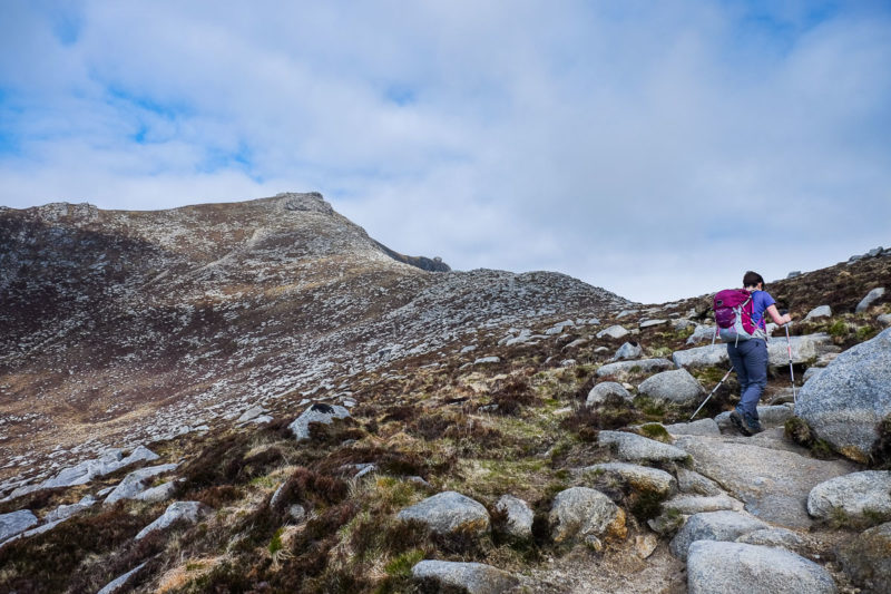 Using the path on Goatfell, Arran