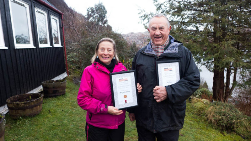 Marie Christine and John Ridgway and their Lifetime Achievement awards