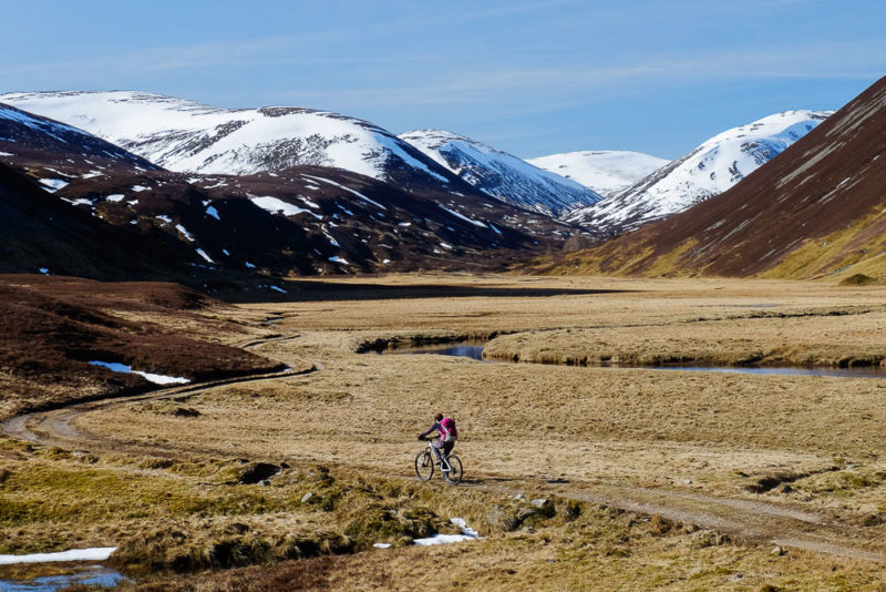 Biking up Glen Ey