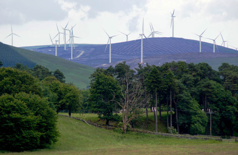 Elvanfoot, South Lanarkshire. A green salvation? Or business as usual?