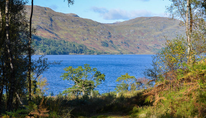 Looking across Loch Shiel towards Mike Tomkie's cottage