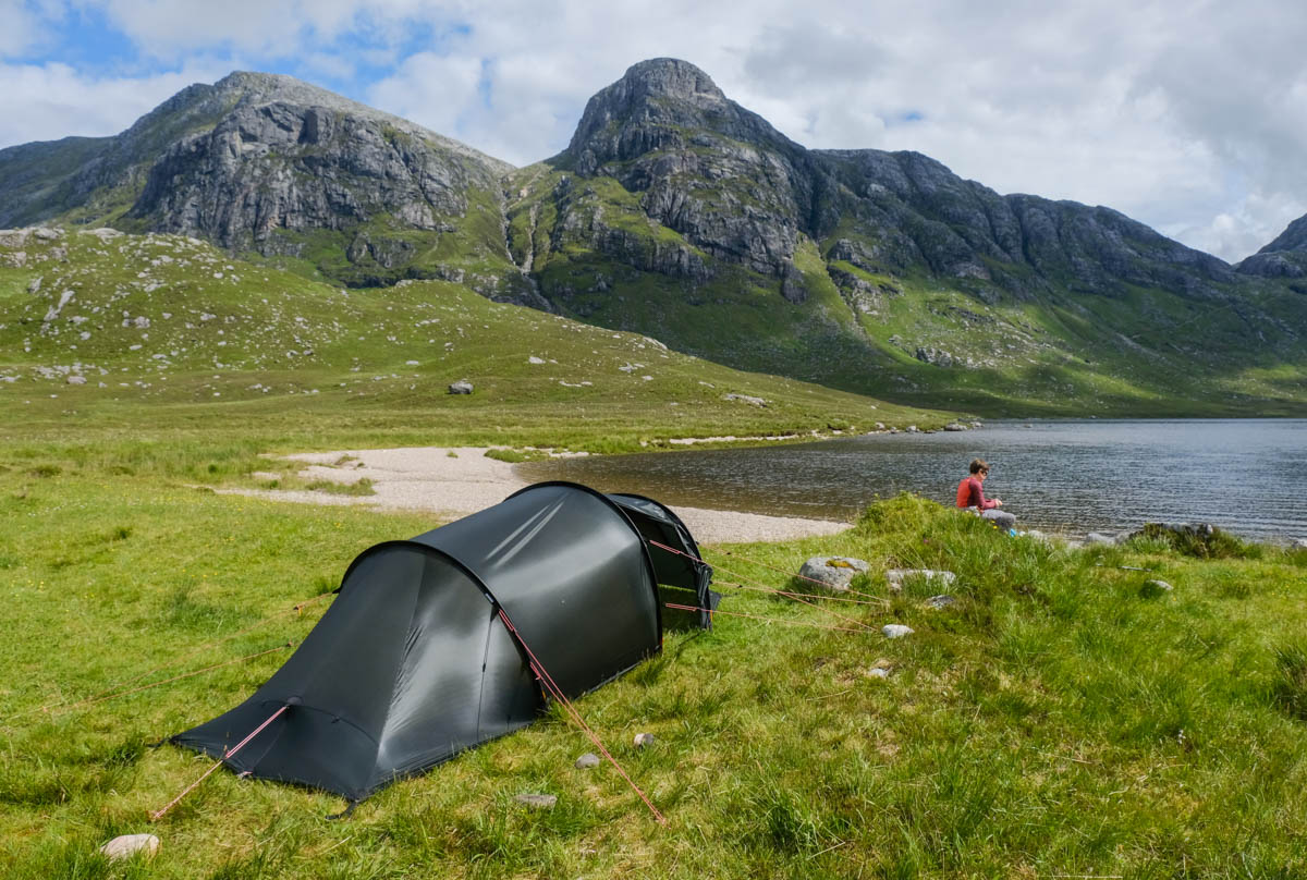 Nallo 2 GT at Fionn Loch in the Fisherfield Forest & Gear review: Hilleberg Nallo 2 GT tent | Walkhighlands