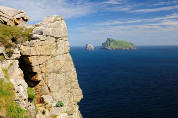 Karen Thorburn Blog 008-02 Looking towards Boreray from Hirta, St Kilda