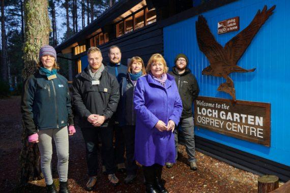 Fiona Hyslop MSP  visit to Abernethy Nature Reserve.