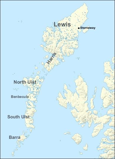 Outer Hebrides Map Outer Hebrides (Western Isles)   Walkhighlands